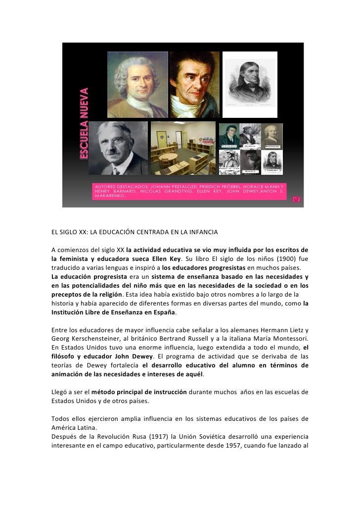 AUTORES DESTACADOS: JOHANN PESTALOZZI, FRIEDICH FRÖEBEL, HORACE MANN Y               HENRY BARNARD, NICOLAS GRANDTVIG, ELL...