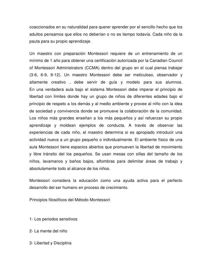 MaestríA Diversidad DidáCtica Maria Montessori