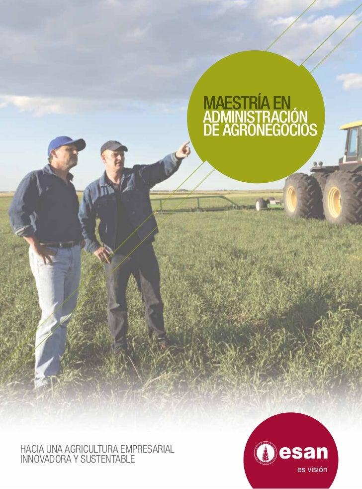 HACIA UNA AGRICULTURA EMPRESARIALINNOVADORA Y SUSTENTABLE