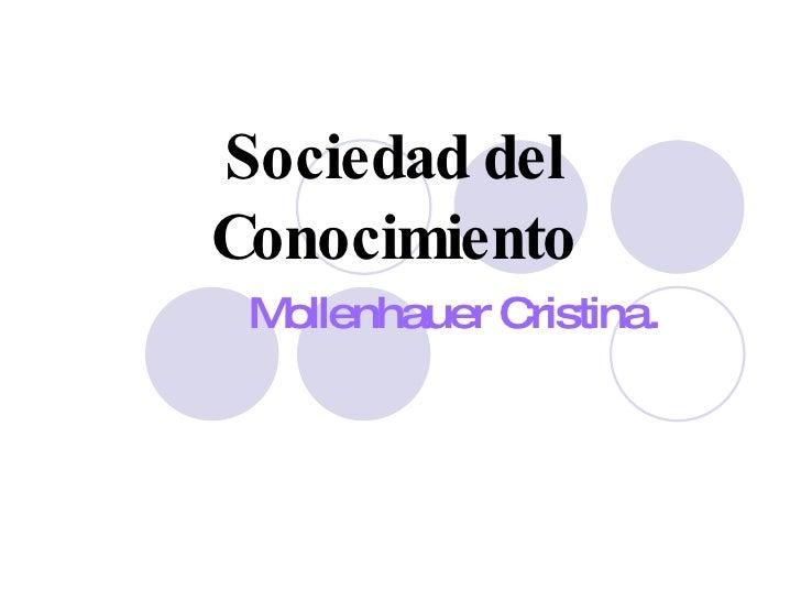 Sociedad del Conocimiento Mollenhauer Cristina.