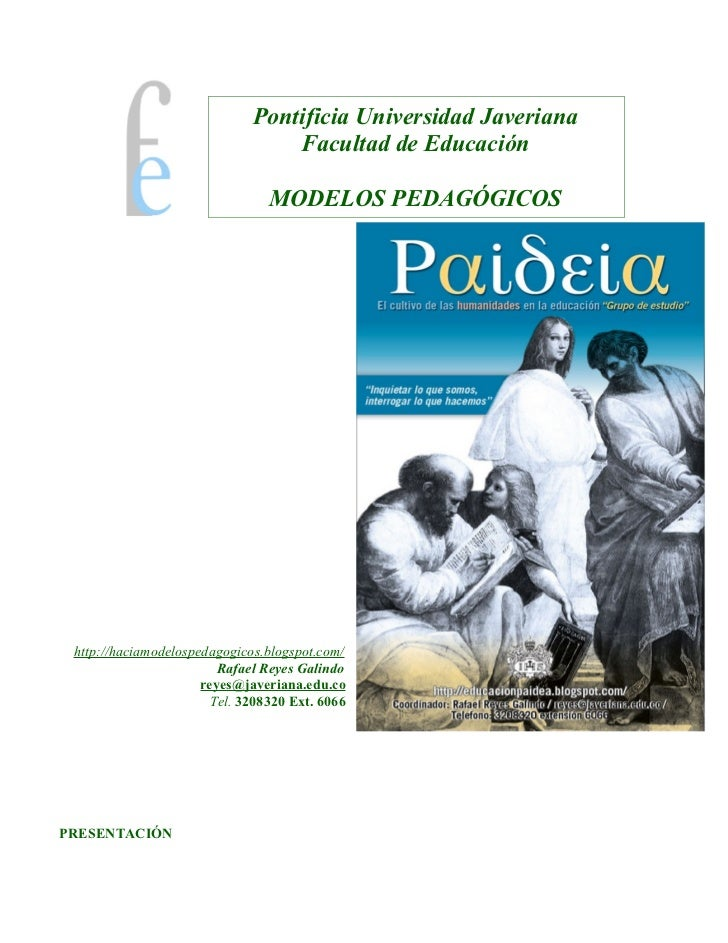 Pontificia Universidad Javeriana                                  Facultad de Educación                                 MO...