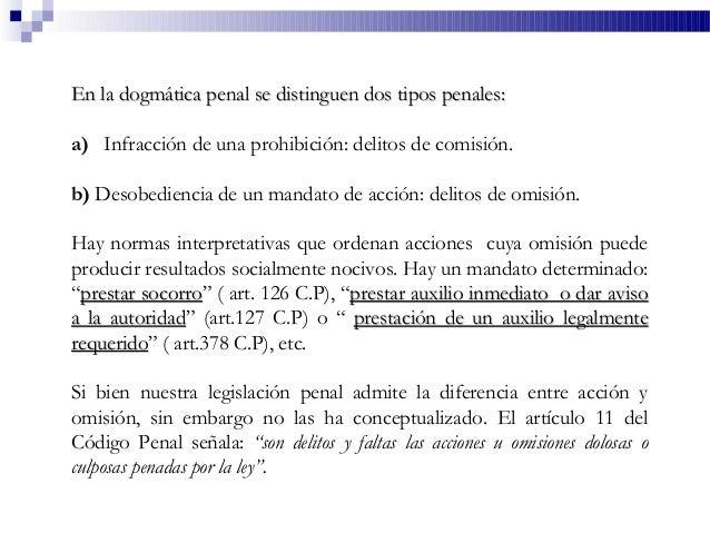 En la dogmática penal se distinguen dos tipos penales:En la dogmática penal se distinguen dos tipos penales: a) Infracción...