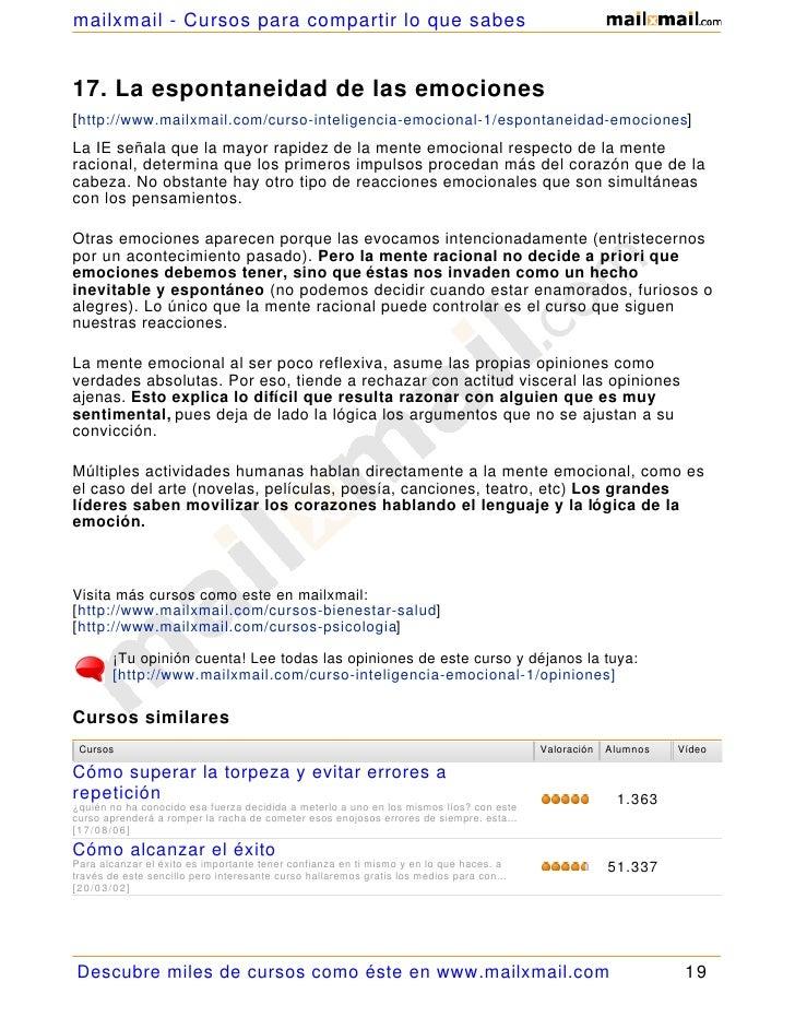 mailxmail - Cursos para compartir lo que sabes   17. La espontaneidad de las emociones [ http://www.mailxmail.com/curso-in...