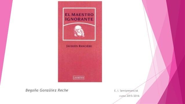 Begoña González Reche E. I. Semipresencial curso 2015/2016