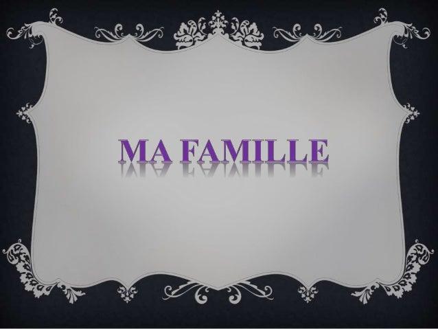 Ma famille est assez nombreuse: elle se compose de douze personnes . Ce sont : ma mère , mes deux frères , mes deux belle-...