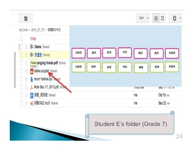 Student E's folder (Grade 7) 24
