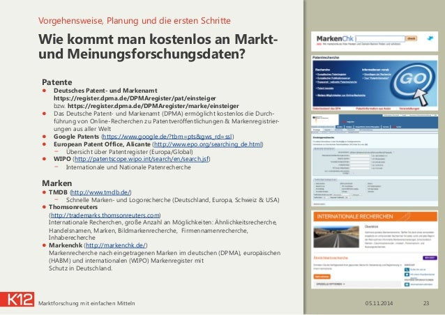 Wie kommt man kostenlos an Markt- und Meinungsforschungsdaten? Vorgehensweise, Planung und die ersten Schritte 05.11.2014...