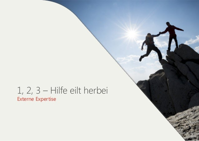 1, 2, 3 – Hilfe eilt herbei Externe Expertise