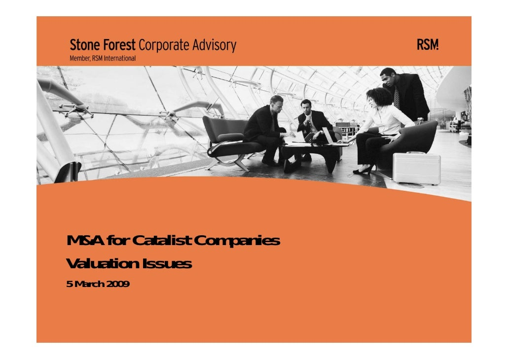 M&A for Catalist Companies Valuation Issues 5 March 2009