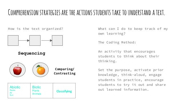 Reading Comprehension And Instructional Strategies