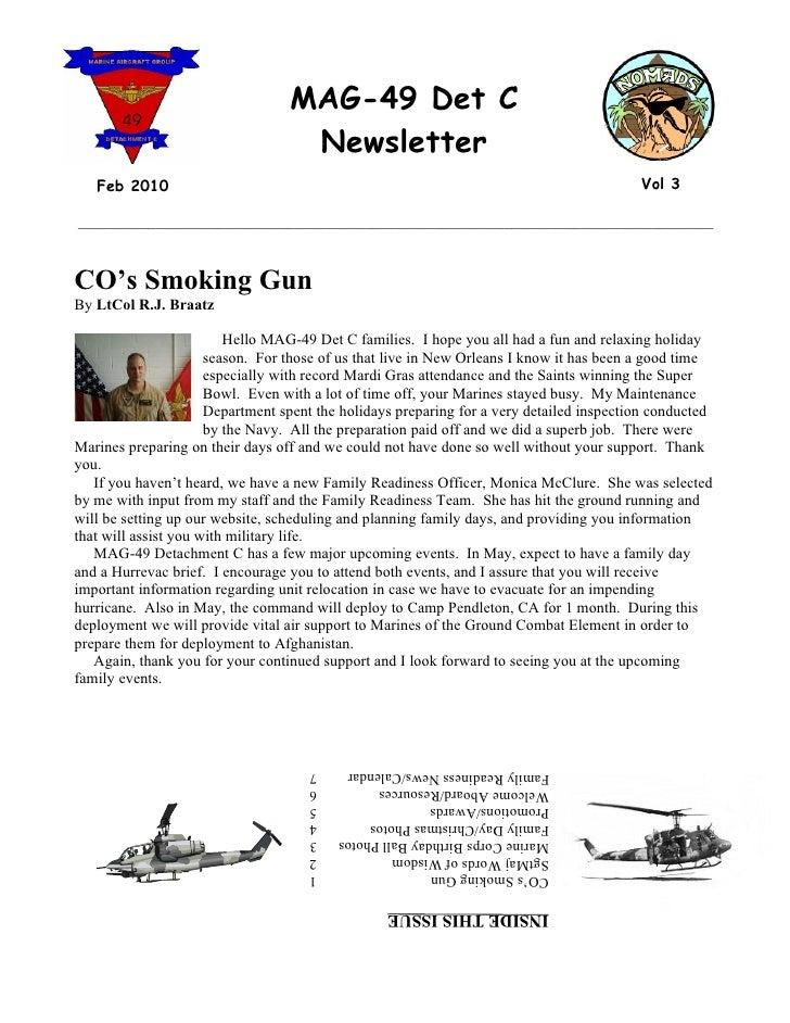 MAG-49 Det C                                    Newsletter    Feb 2010                                                    ...