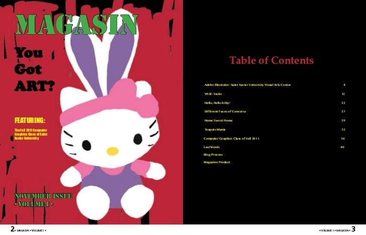 MAGASINYou                                            Table of ContentsGotART?                         Adobe Illustrator: ...