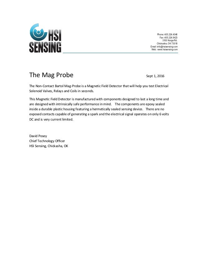 The Mag Probe Sept 1, 2016 The Non-Contact Bartol Mag-Probe is a Magnetic Field Detector that will help you test Electrica...