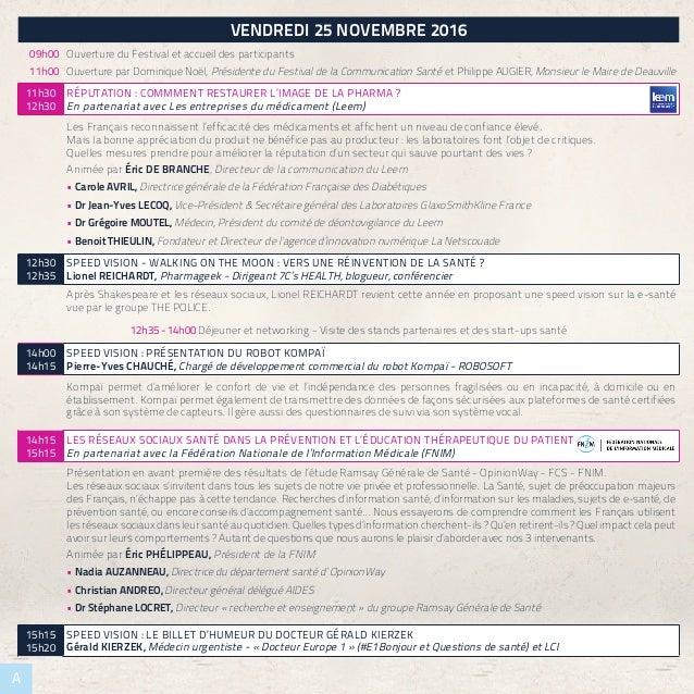 PROJETSNOMINÉS A VENDREDI 25 NOVEMBRE 2016 09h00 Ouverture du Festival et accueil des participants 11h00 Ouverture par Dom...