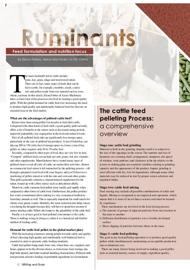 Feed formulation and nutrition focus - Ruminants
