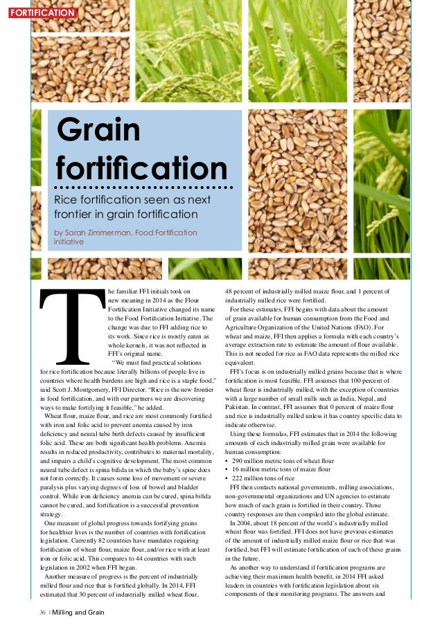 grain fortification