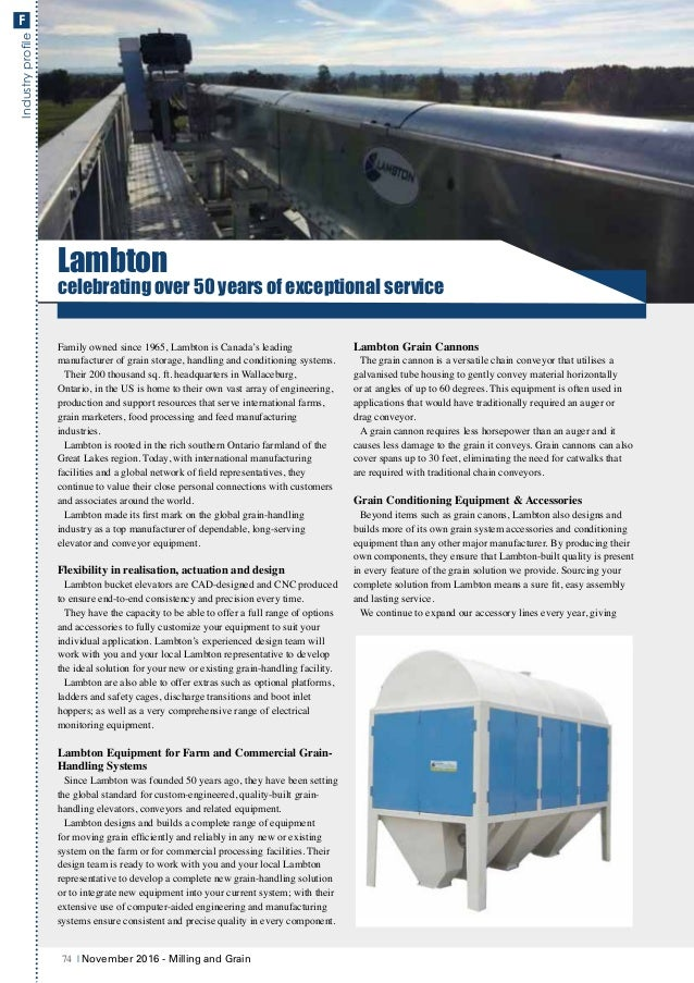 IndustryprofileF Lambton celebrating over 50 years of exceptional service Family owned since 1965, Lambton is Canada's lea...