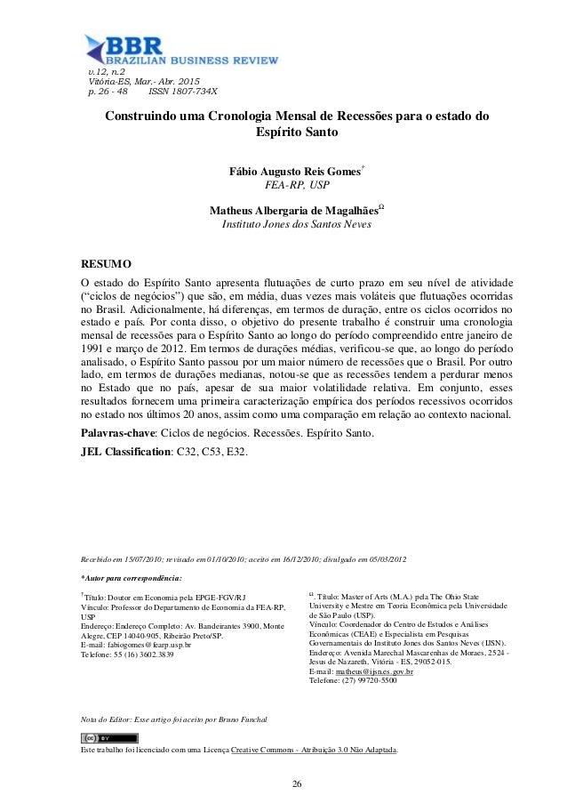 v.12, n.2 Vitória-ES, Mar.- Abr. 2015 p. 26 - 48 ISSN 1807-734X Recebido em 15/07/2010; revisado em 01/10/2010; aceito em ...