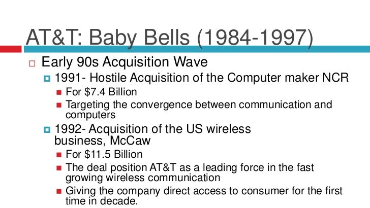 a history of how att long distance services became a monopoly After fighting a federal antitrust suit for six years, at&t agreed to divest itself of its seven regional bell carriers, retaining only its long distance system, and winning the right to go into.
