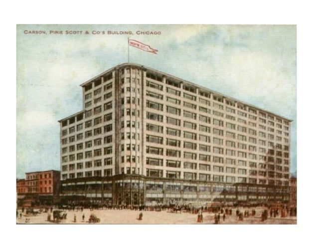 • Edifici: Magatzems Carson, Pirie i Scott. • Autor: Louis Sullivan (Boston, 1856 – Chicago, 1924). • Cronologia: 1899-190...