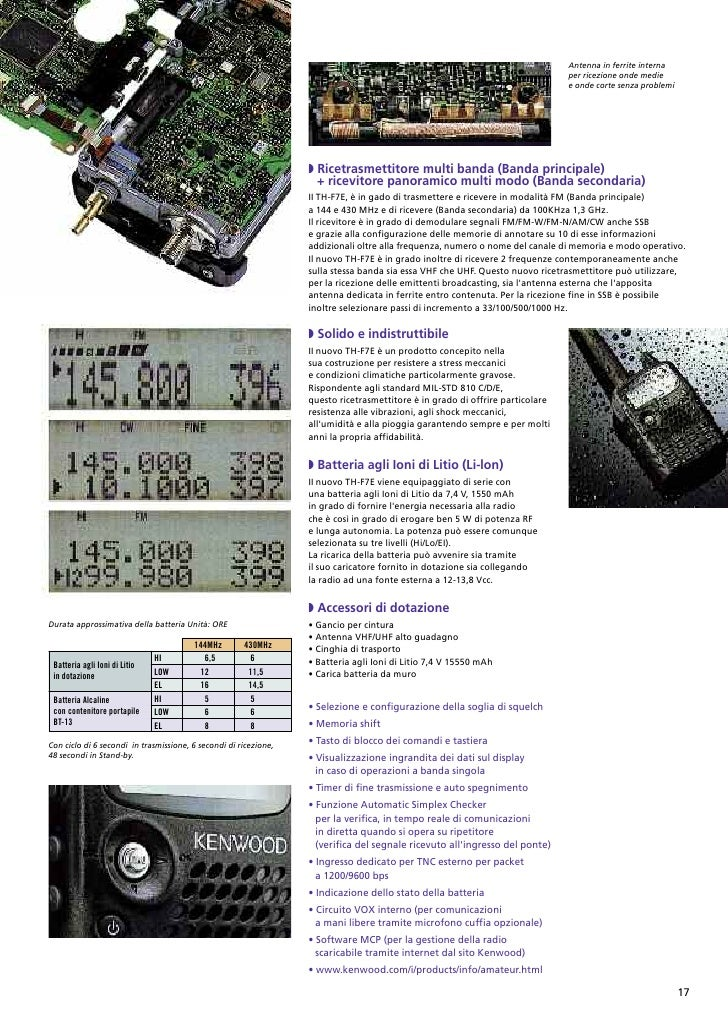 Kenwood catalogo apparecchiature per radioamatori for Modo 10 catalogo
