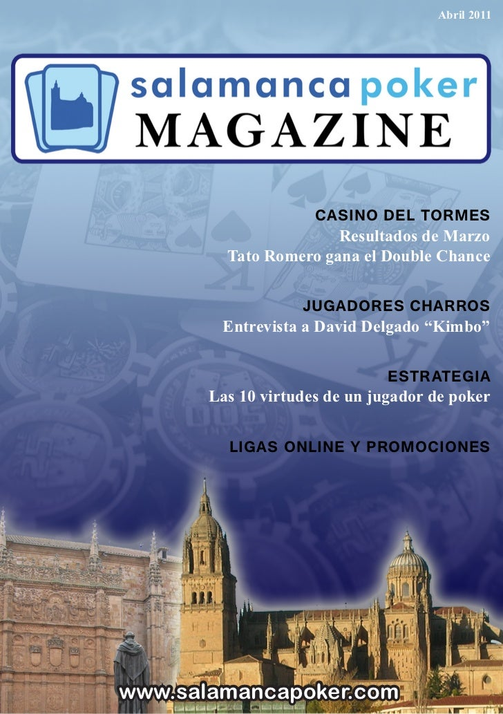 Abril 2011                     CASINO DEL TORMES                       Resultados de Marzo         Tato Romero gana el Dou...
