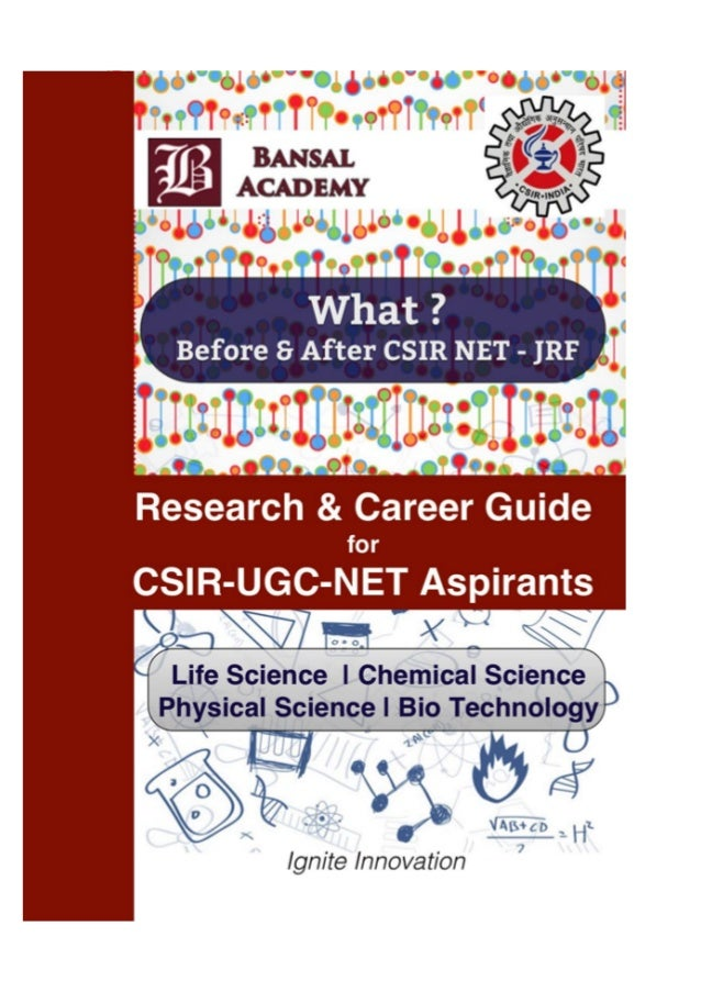 career research guide for csir aspirants