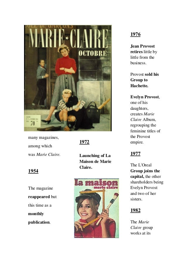 marie claire origin and evolution of the magazine. Black Bedroom Furniture Sets. Home Design Ideas