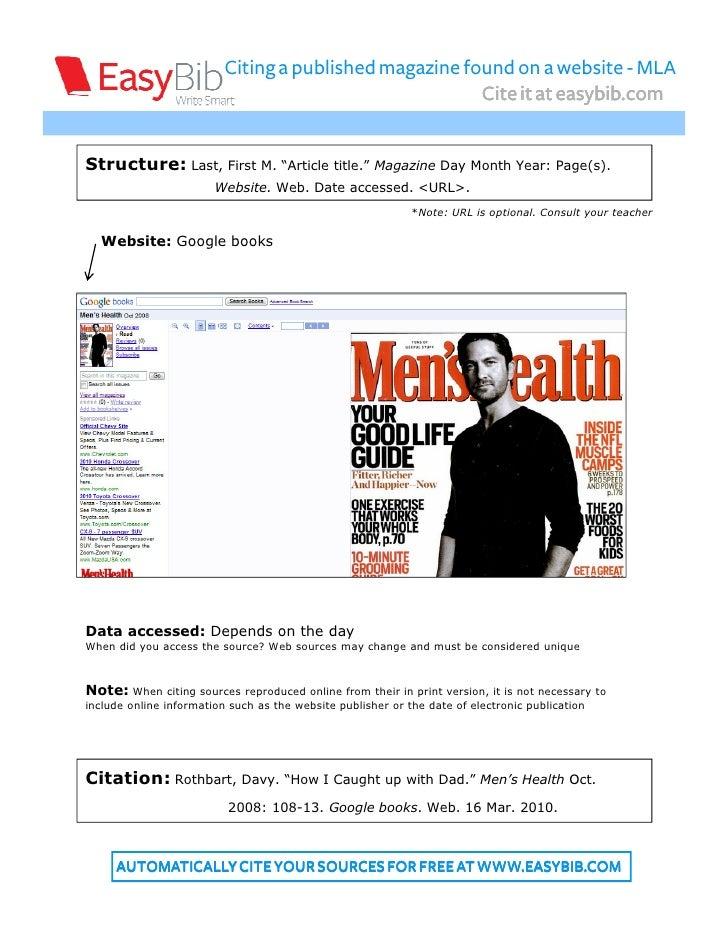 magazine citation