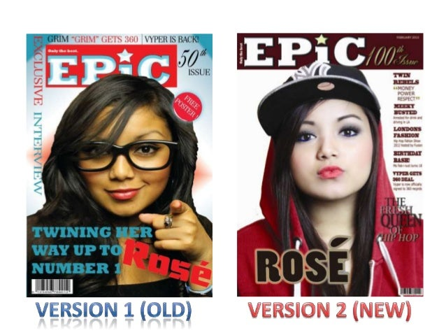 This screen shot shows my final and complete front cover version of mymusic magazine. The following screenshots will show ...