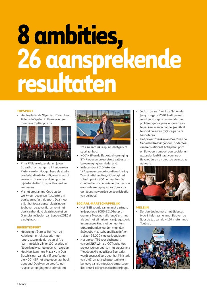 8 ambities,26 aansprekenderesultatenTOpSpORT                                                                              ...