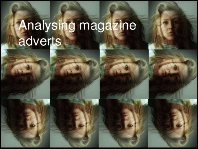 Analysing magazineadverts