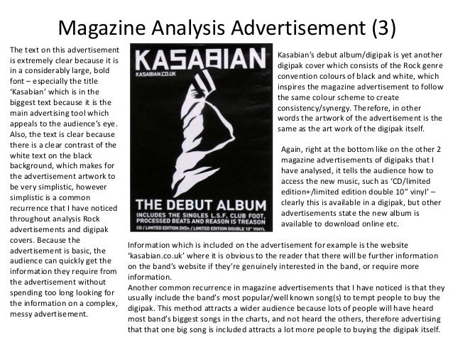 an analysis of an advertisement by shape magazine If you are using the web for a comprehensive historical analysis of  stories in the same magazine,  to the message in the advertisement.
