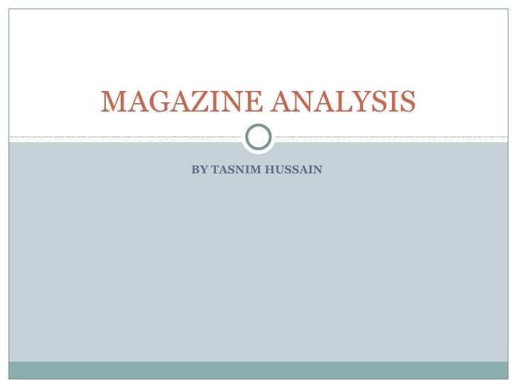 Magazine analysis essay