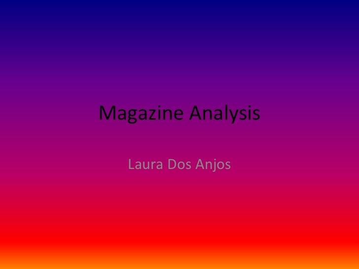 Magazine Analysis   Laura Dos Anjos