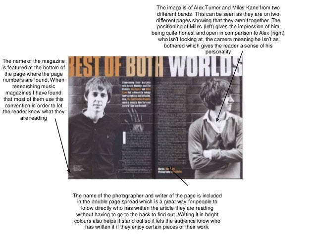 The image is of Alex Turner and Miles Kane from two different bands. This can be seen as they are on two different pages s...