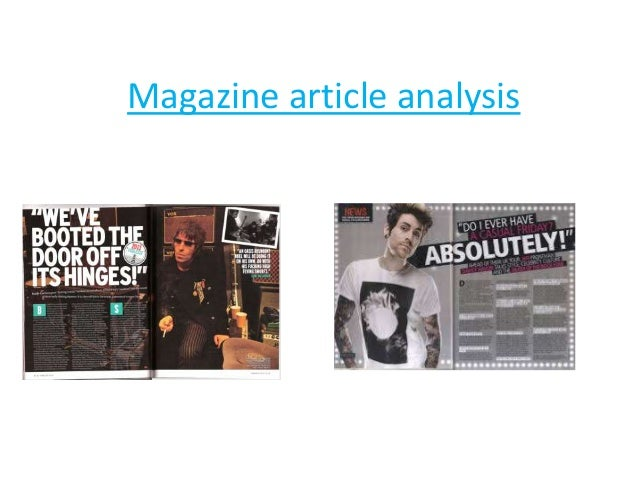 magazine article analysis Tisements from women's fashion and beauty magazines in singapore, taiwan,  and the us to compare  the article also discusses how feminist critiques of the.