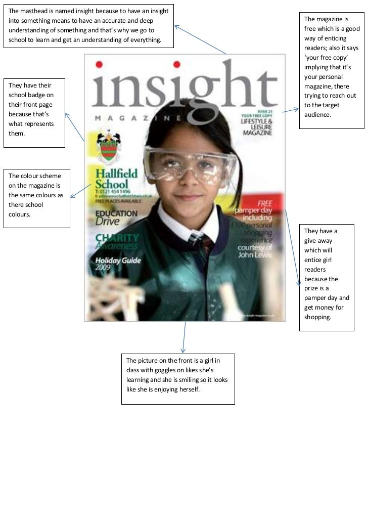 The masthead is named insight because to have an insightinto something means to have an accurate and deep                 ...