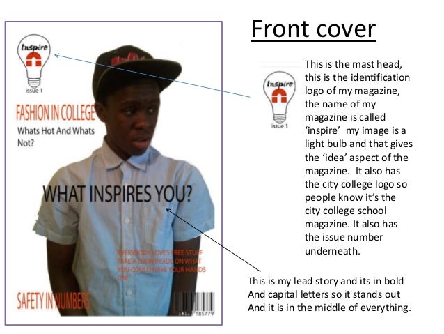 Magazine cover and contents page analysis lorraine Slide 2