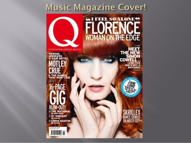 The indie music magazine uses many bright and bold features to encourage readers to purchase the magazine. The text is in ...