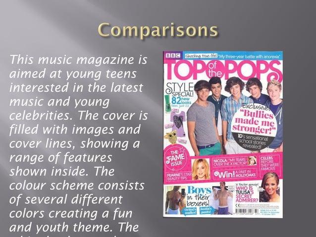 Magazine cover presntation