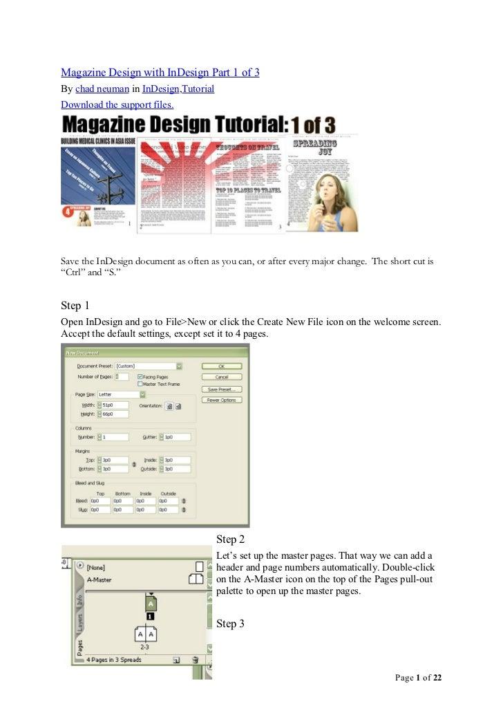 Magazine Design with Indesign 002