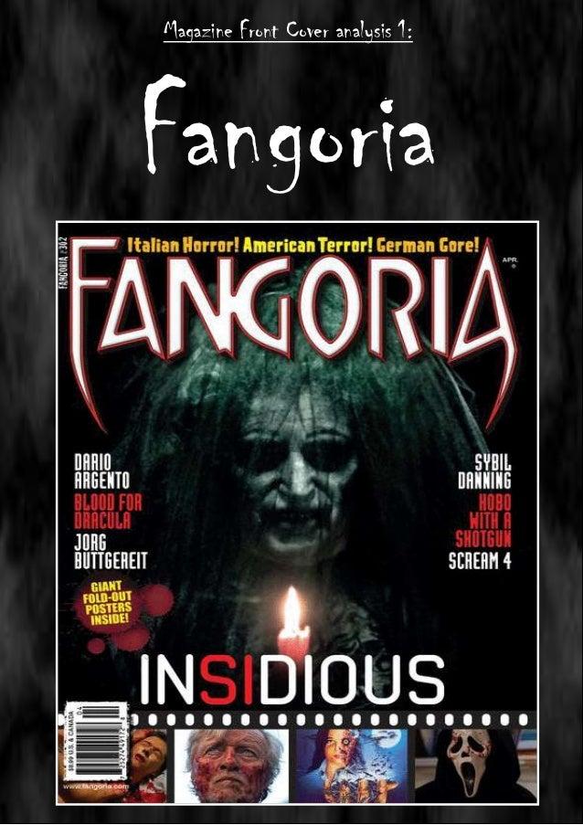 Magazine Front Cover analysis 1:  Fangoria