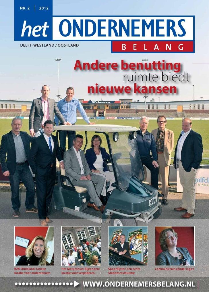 NR. 2        2012   DELFT-WESTLAND / OOSTLAND                                   Andere benutting                          ...