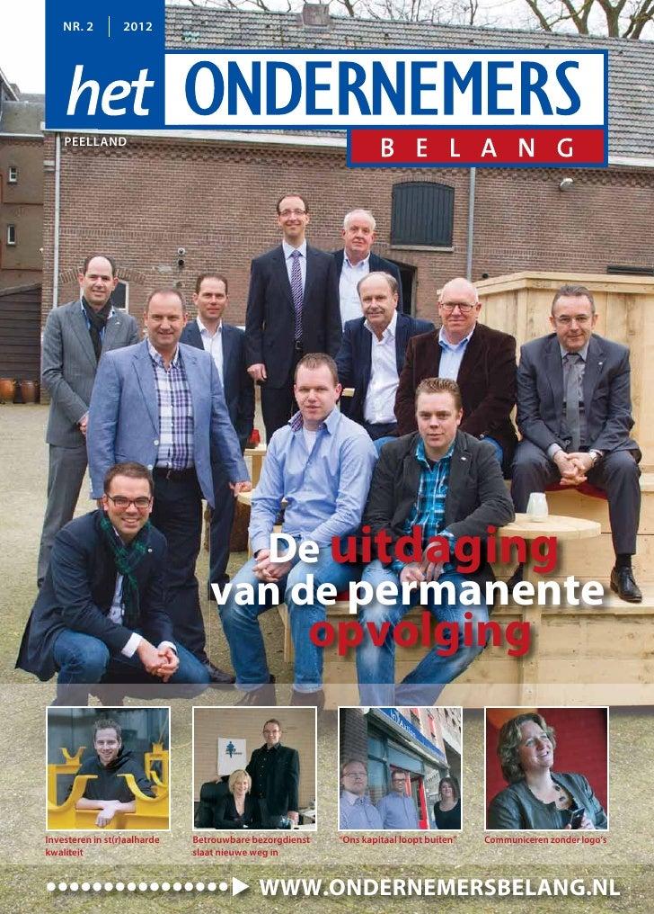NR. 2         2012    PEELLAND                                   De uitdaging                                 van de perma...