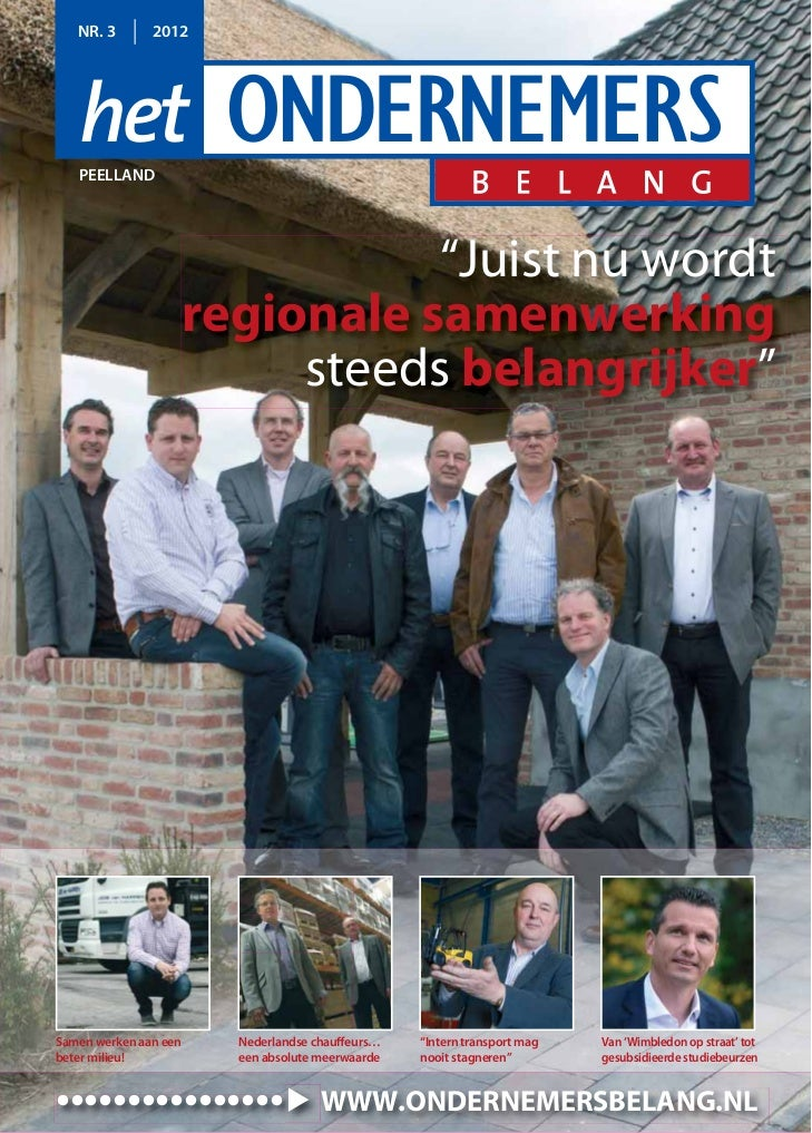 """NR. 3       2012   PEELLAND                              """"Juist nu wordt                   regionale samenwerking         ..."""