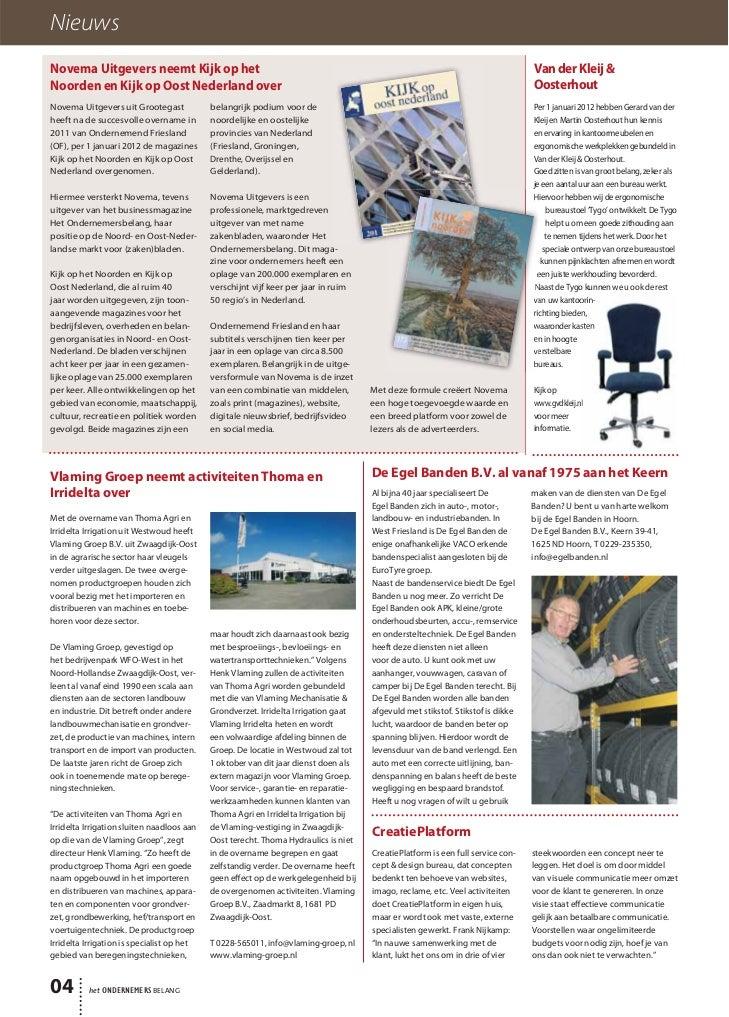Magazine Het Ondernemersbelang West Friesland 0212