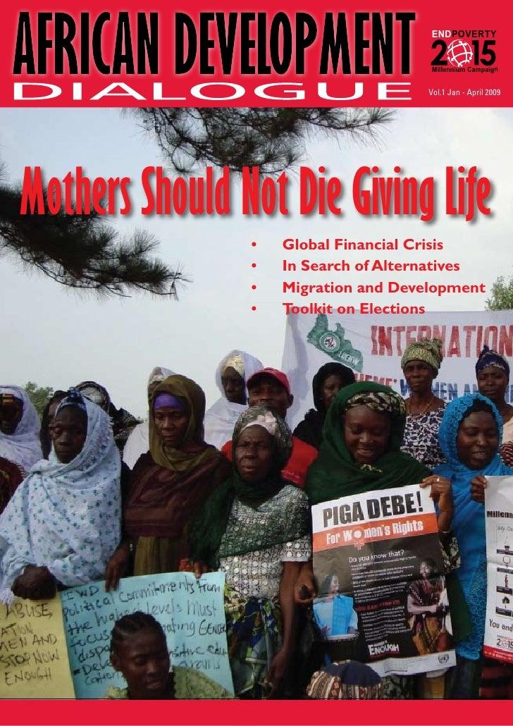 AFRICAN DEVELOPMENT                                       ENDPOVERTY                                                      ...