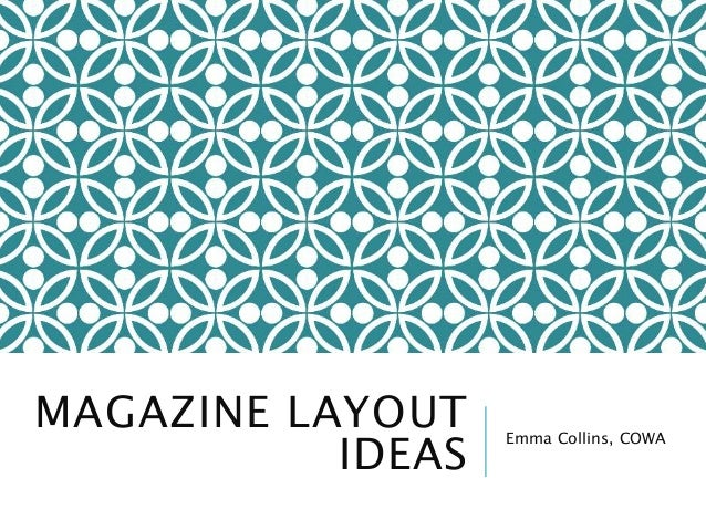 Magazine layout ideas for Magazine design ideas
