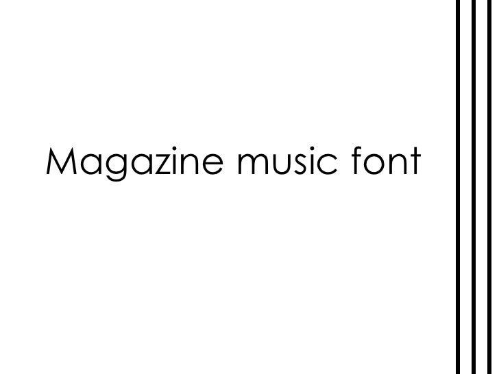 Magazine music font